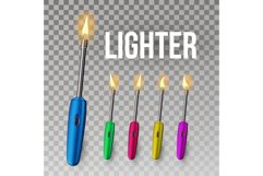 Lighter Vector. Corporate Light Accessory. 3D Realistic Product Image 1