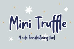 Mini Truffle - Cute Handlettering Font Product Image 1