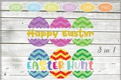 Easter Eggs monogram SVG, Split Easter Eggs, Egg Cut file Product Image 1