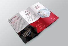 Trifold red Brochure Product Image 3