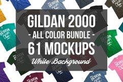 Tshirt Mockup Bundle Gildan Mens Tshirt White Background Product Image 1