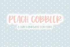 Peach Cobbler | Fun Handwritten Font | Bouncy Font Product Image 1
