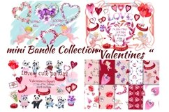 Bundle Valentines. Valentines Day clipart.Digital paper. Product Image 2
