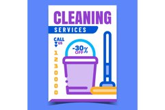 Cleaning Service Creative Advertise Banner Vector Product Image 1