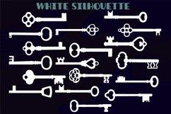 Skeleton Keys White | Hand Drawn Victorian Heart Door Lock Product Image 3