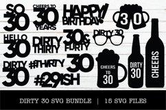 DIRTY 30 SVG BUNDLE Product Image 1