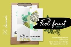 Feel fruit - feel good Fresh hand drawn summer pattern set. Product Image 1
