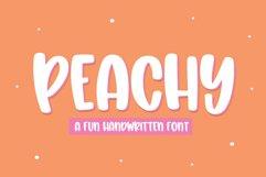 Peachy - A Fun Handwritten Font Product Image 1