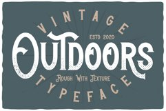 Outdoors Layered Font Product Image 2