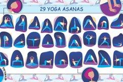 Yoga with girl - set of illustrations with asana Product Image 6