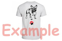 French bulldog SVG, cute Dog paw SVG, Family Pet, 817S Product Image 2