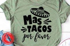 Cinco de mayo shirt Mas tacos por favor Mexican Sombrero art Product Image 2