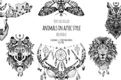 Textured animals in aztec style Product Image 1