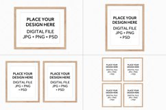 Wood Frames Mockup Bundle, Poster Mockup Digital Frames Product Image 2
