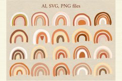 Rainbow clipart SVG Product Image 3