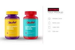 Supplement Bottle Mockup, Glossy Plastic Material Product Image 3