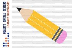 Pencil SVG School svg 100 days of school SVG Education Svg Product Image 1