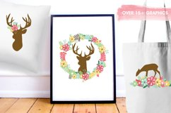Floral Deers graphics and illustrations Product Image 5