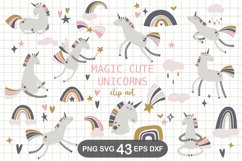Scandinavian Unicorn Clipart, SVG, PNG, DXF, EPS Product Image 1