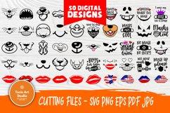 Kids Face Mask SVG Bundle, Quarantine Svg, Face Mask Signs Product Image 1