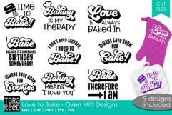 Love to Bake - Oven Mitt Designs - Kitchen SVG & Cut Files Product Image 1