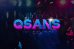 Qsans Layered Font Product Image 1