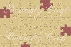 Puzzle digital paper, 20 colors puzzle, Puzzle pieces patter Product Image 2