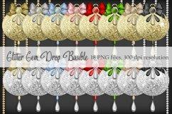 Glitter Gem Drop Baubles Product Image 1