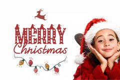 Christmas Hat Font | merry christmas font Product Image 6