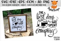 The Best Days Are Spent Camping Camper SVG Product Image 1