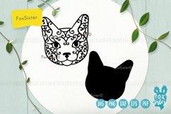 Cat face Svg, Dxf, Eps, Png, Pdf cut file Product Image 2