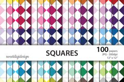 Rainbow squares seamless background Product Image 1