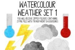 Watercolor Weather Clip Art Set Product Image 2