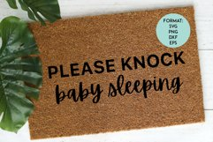 Doormat / Please Knock Baby Sleeping / Funny SVG File Product Image 1