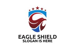 Head of the eagle on the shield logo design Product Image 3