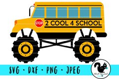 Monster Truck 2 Cool 4 School, School Bus With Dirt Mound Product Image 2