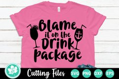 Blame it on the Drink Package - A Vacation SVG Cut File Product Image 1