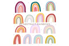 60 Abstract rainbows clipart Product Image 2