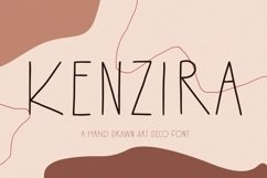 Kenzira - A Hand Drawn Art Deco Font Product Image 1