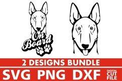 2x Amstaff On Board Bundle svg, Dog Breed svg, Dog On Board Product Image 1