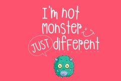 Monster Playground Handwritten- cute kid font Kawaii style! Product Image 2