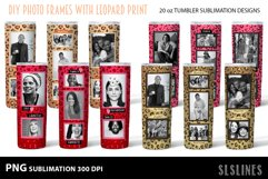 Skinny Tumbler Sublimation - Leopard Print Photo Frames Product Image 1