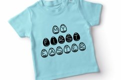 Web Font Easter Candy, a cute easter egg font in two styles Product Image 2