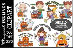 Silly Halloween Clipart-Sublimation Bundle Product Image 1