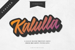 Kalulla Clean Hand Written Font! Product Image 1