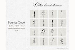 Botanical Clip art Floral Hand drawn vector elements. Product Image 4