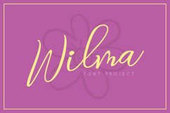 Wilma Font Product Image 1