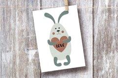 SVG Valentine Baby Animals Bundle. Love heart. Nursery. Product Image 4