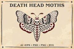 Death Head Moth Vector Design Product Image 4