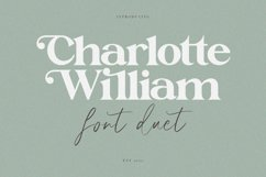 Charlotte William Font Duet Product Image 1